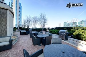 There is plenty of seating and tranquil outdoor access to some of the most spectacular city views.