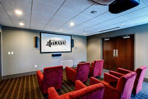 Why not enjoy everything from the latest acclaimed features to even your own home video in the screening room?