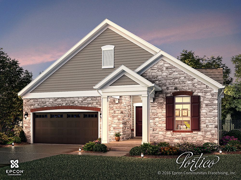 Rendering of the Portico in The Courtyards On Lake Norman