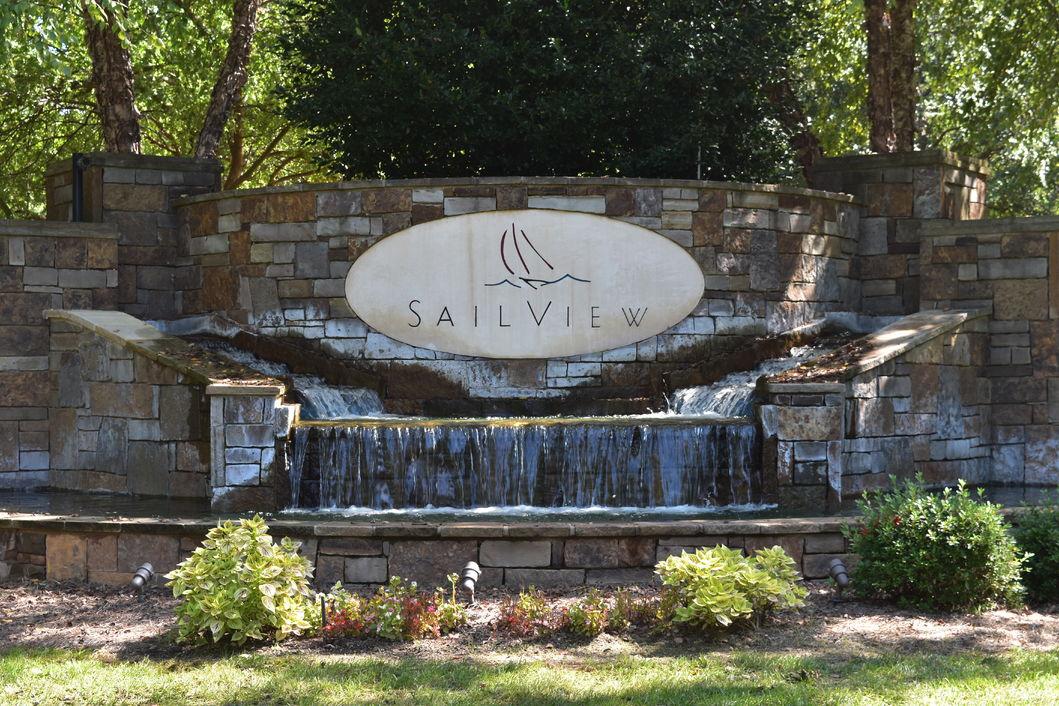 Sailview Entrance Sign - Lake Norman - Denver, NC