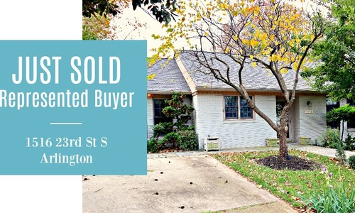 JUST SOLD | Represented Buyer | 1516 23rd St S,  Arlington