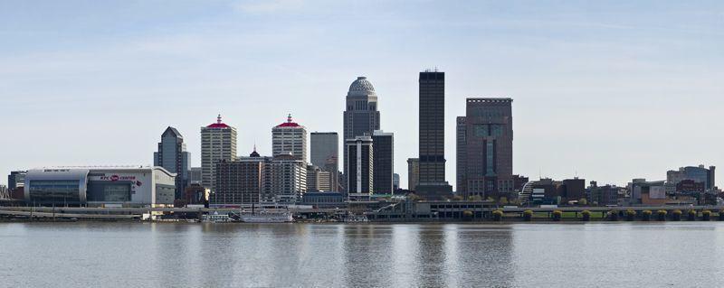 Panorama of the Louisville skyline