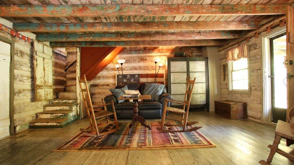 Cabin Creek Artist Retreat 1863 Antique Log Cabin 28 Ac