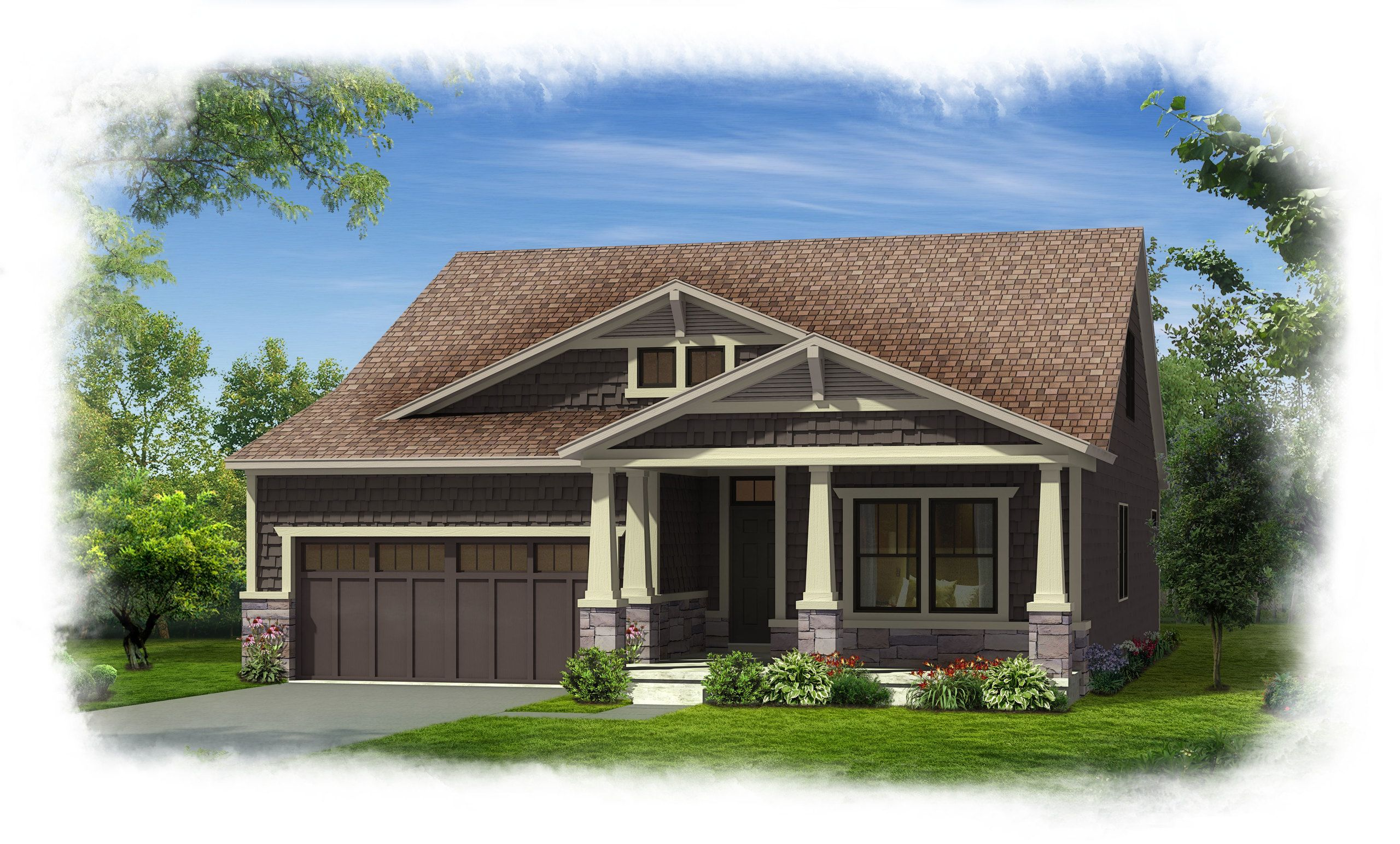 wicklow elevation b chestnut home builders real estate