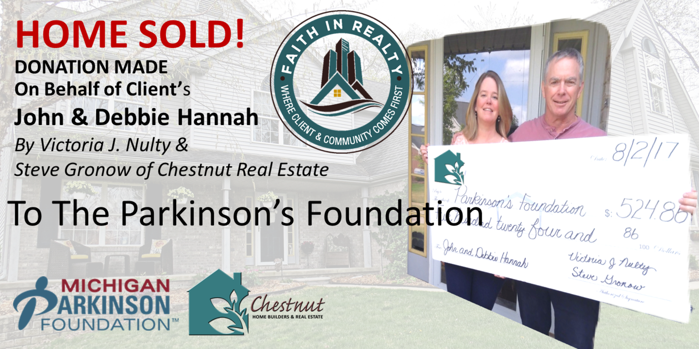 Faith In Realty Donation to Michigan Parkinson's