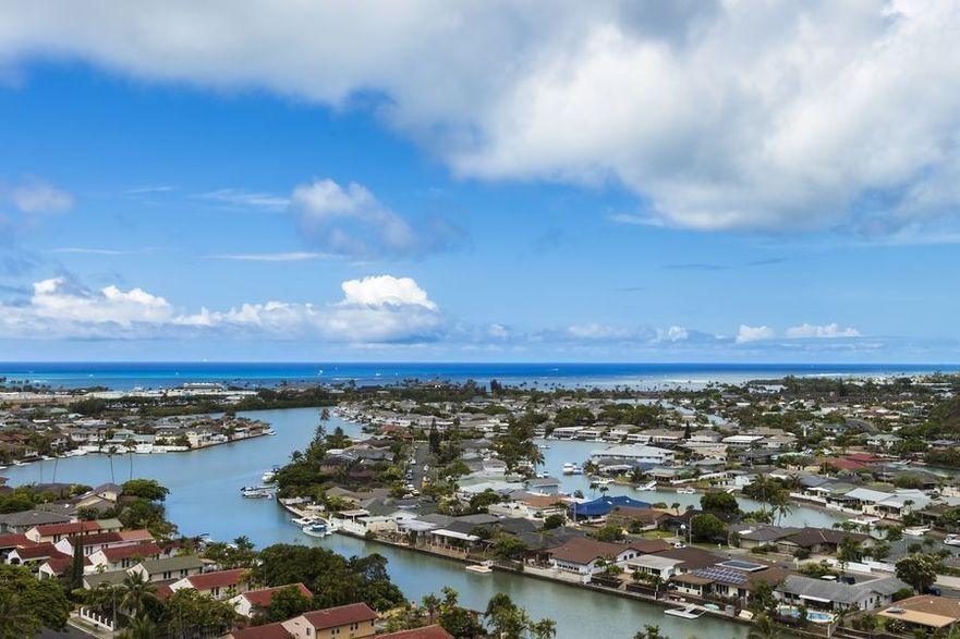 View of beautiful Hawaii Kai and Manualua Bay