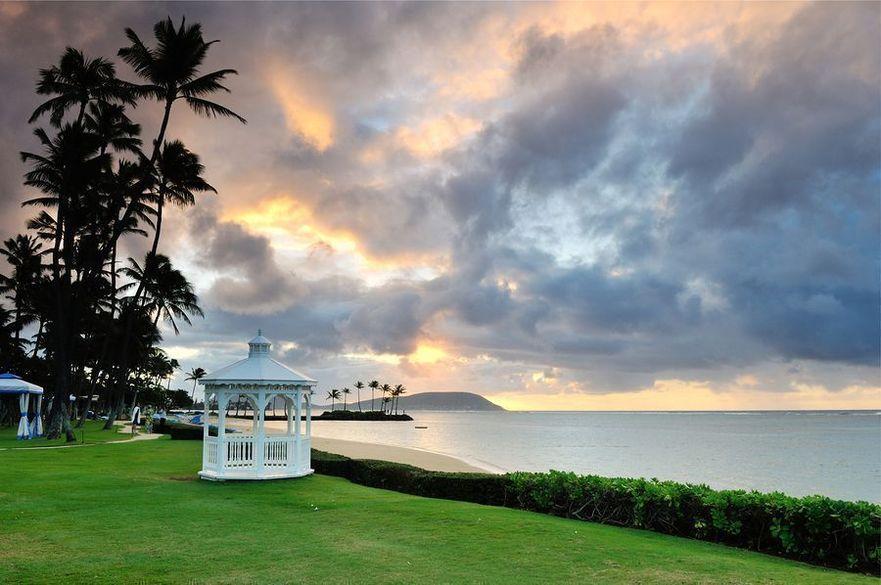 Gazebo at Kahala Hotel and Resort Oahu Hawaii
