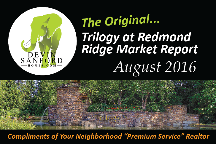 The Original Trilogy at Redmond Ridge Market Report August 2016