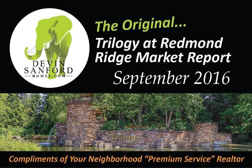 The Original Trilogy at Redmond Ridge Market Report - September 2016