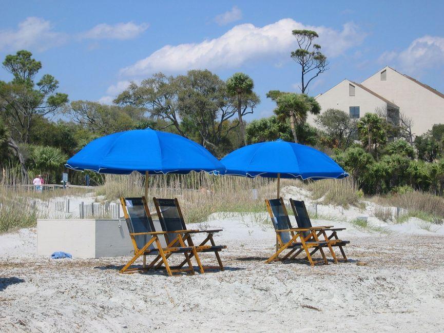 Palmetto Dunes beach chairs