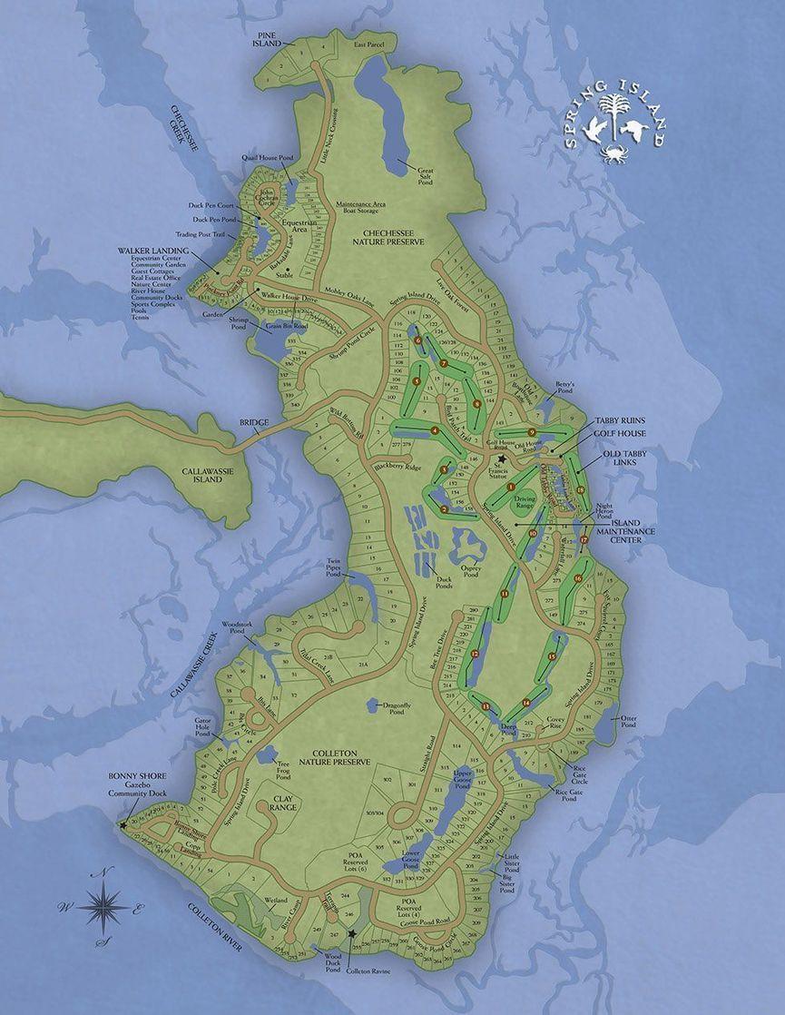 spring island map