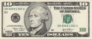 10 dollar bill asking price