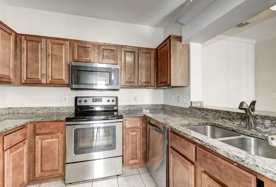 Kitchen has all new appliances