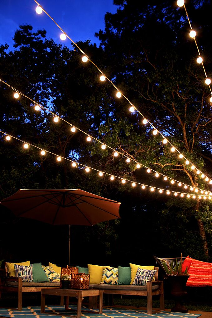 Spruce up your outdoor space with twinkle lights