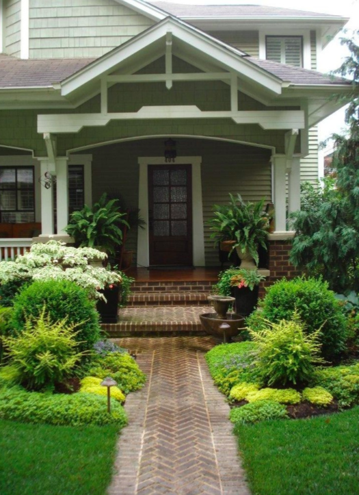 Spring curb appeal - fresh greenery