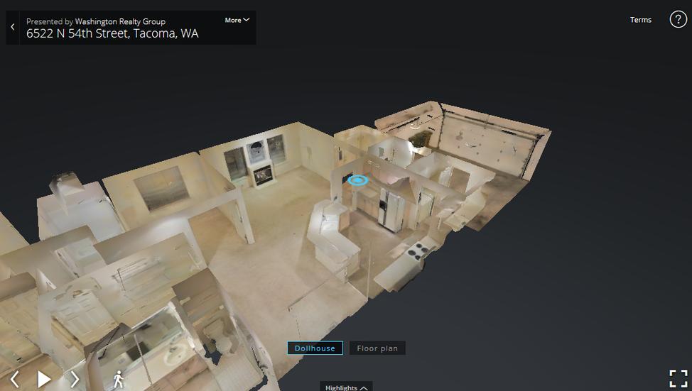 Virtual Reality Model 6522 N 54th Tacoma