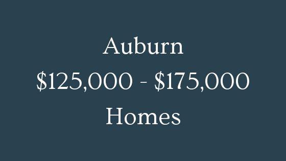 Auburn 125000 to 175000 homes