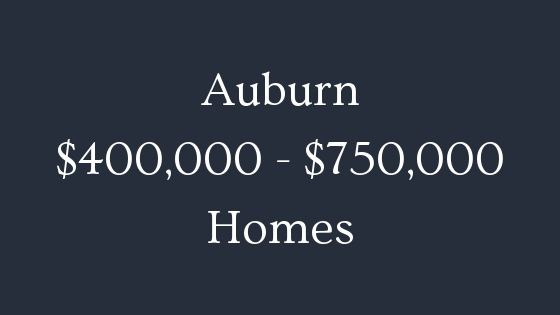 Auburn 400000 to 750000 homes