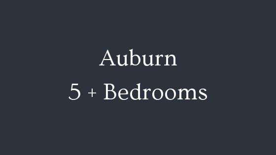 Auburn 5 plus bedrooms