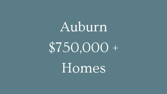 Auburn 750000 plus homes