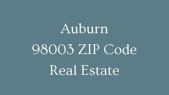 Auburn 98003 ZIP Code real estate