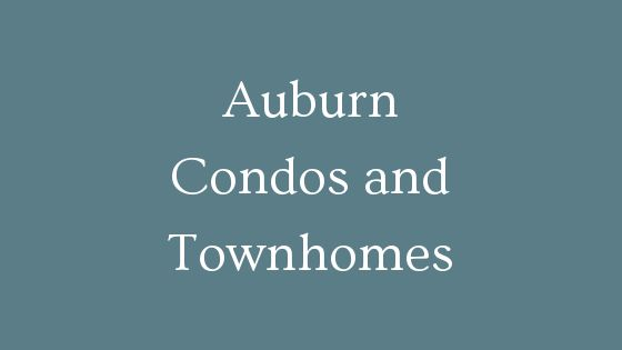 Auburn condos and townhomes