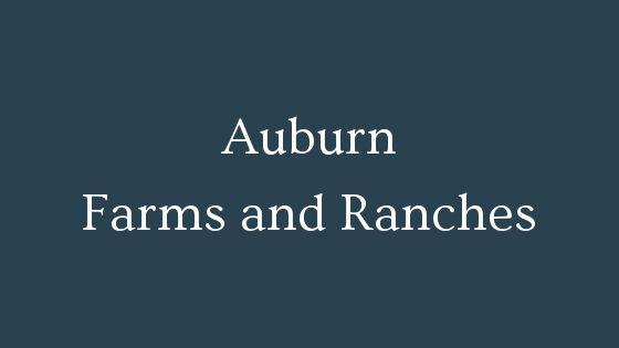 Auburn farms and ranches