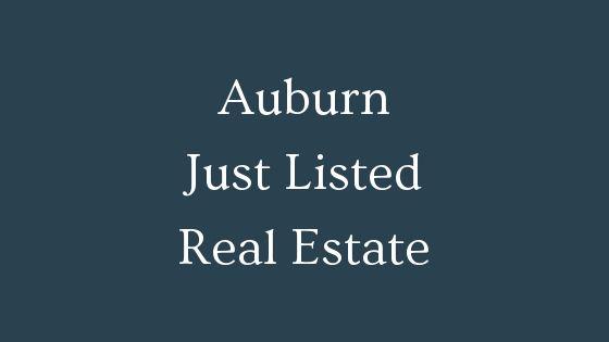 Auburn just listed real estate