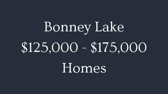 Bonney Lake 125000 to 175000 homes