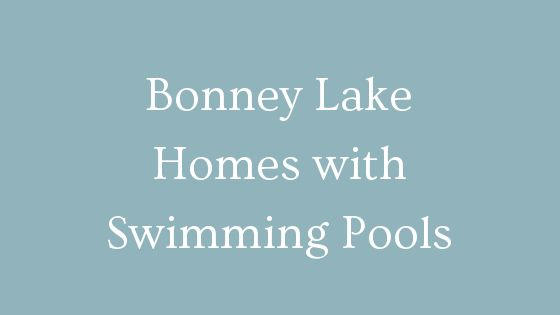 Bonney Lake Homes with swimming pools