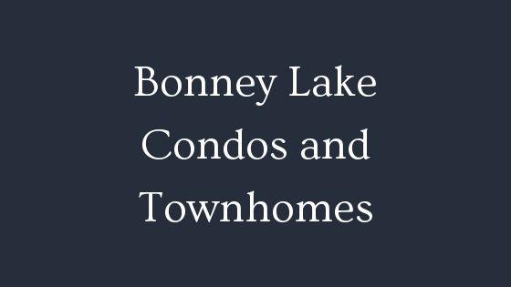 Bonney Lake condos and townhomes