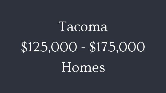 Tacoma 125000 to 175000 real estate