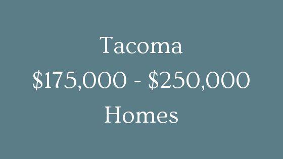 Tacoma 1750000 to 250000 real estate