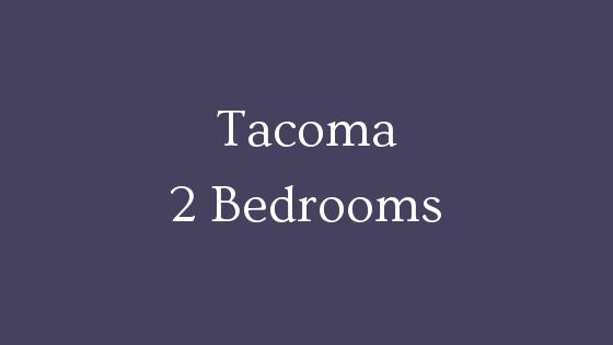 tacoma 2 bedroom real estate