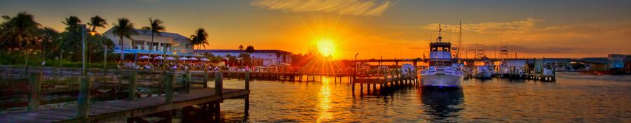 Jetty's Restaurant Jupiter Florida Sunset at Marina