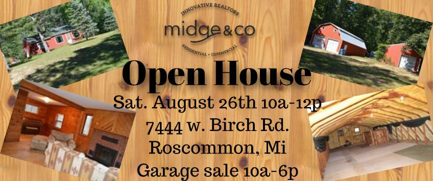 Open house for 7444 birch rd roscommon mi.