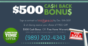 Midge & Co Cash Back Bonus
