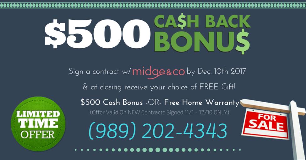Midge & Co Cash Back Bonus