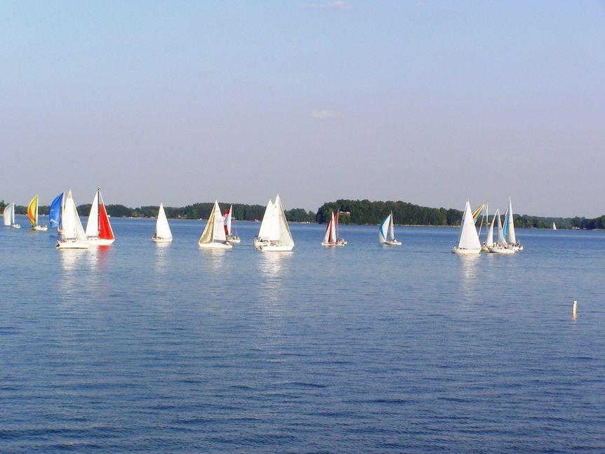Sailboats on Lake Norman