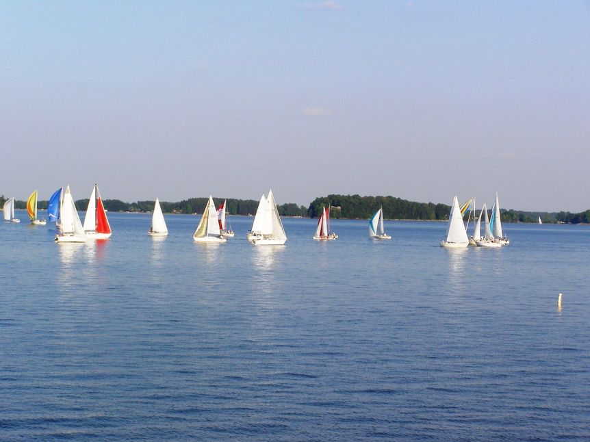 Sailboats on Lake Norman