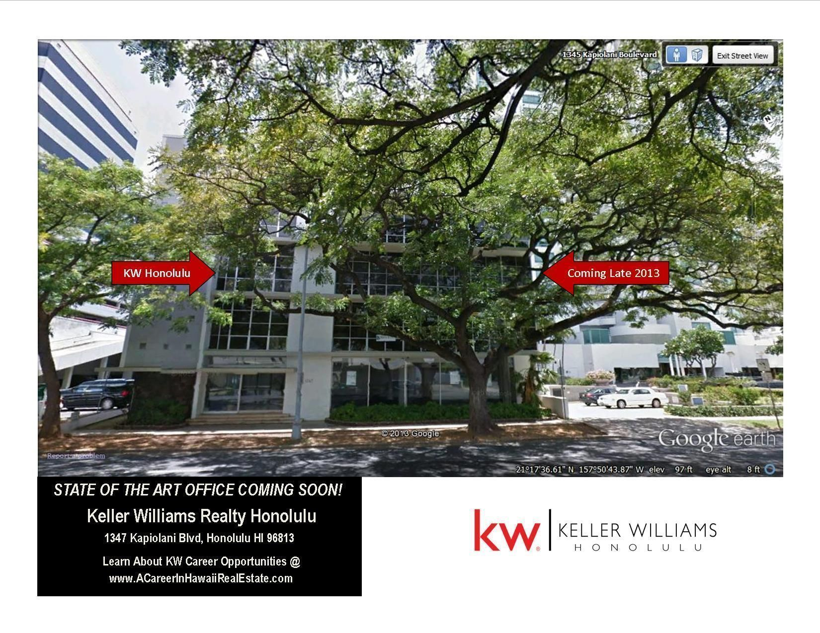 Keller Williams Honolulu Office COMING SOON