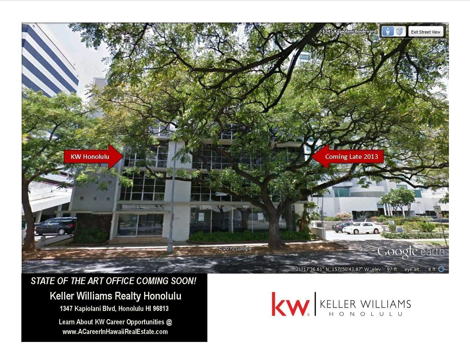 Keller Williams Honolulu Office COMING SOON
