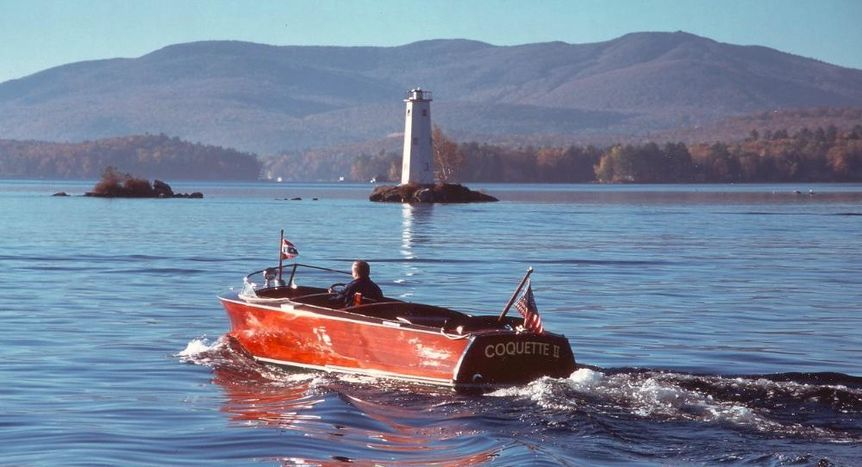 Lake Sunapee Wooden Boat