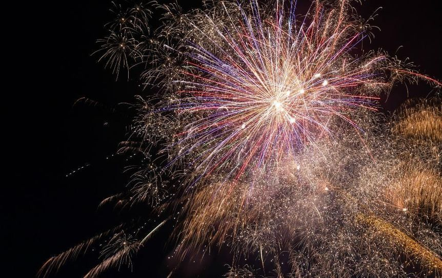 Lake Sunapee Fireworks Show