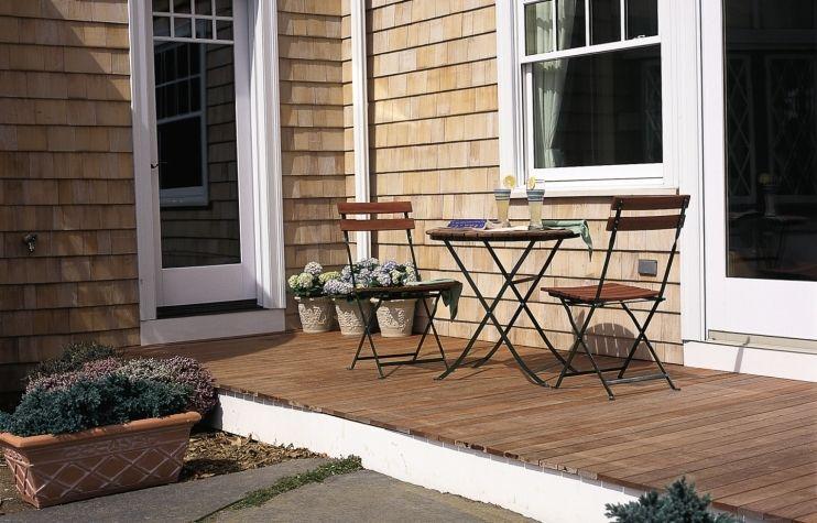 simple wood deck
