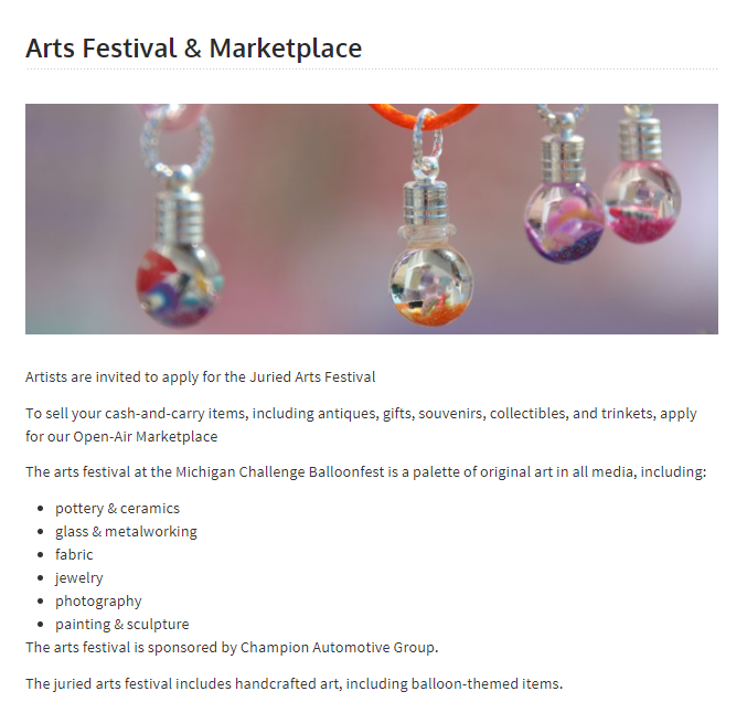 michigan arts festival