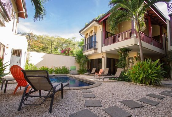 Beautiful 3 bedroom condo just steps from the beach in Costa Rica.