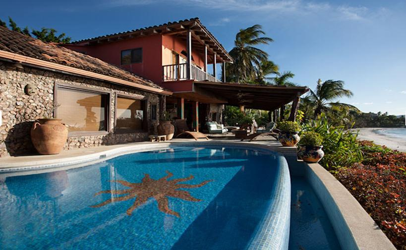 Beach Front Home For In Playa Flamingo Costa Rica
