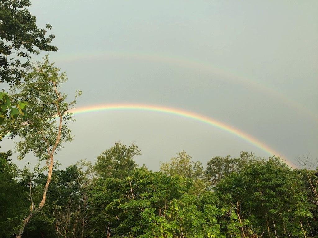 Rainbows in Playa Grande