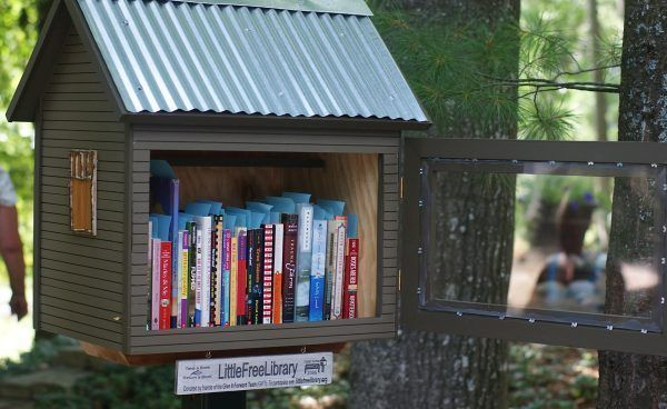 Little-free-library - metal roof